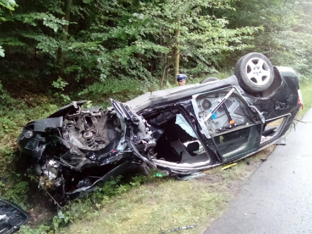 TOMASZÓW Wypadek na trasie Tomaszów Lubelski - Pasieki