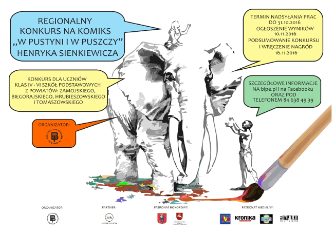 """POWIAT Konkurs na komiks """"W pustyni i w puszczy"""""""