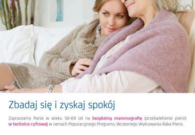 TOMASZÓW Bezpłatna mammografia