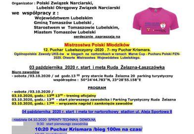 NARTOROLKI Puchar Polski w biegach na nartorolkach Marve CUP 2020 oraz  na Mistrzostwa  Polski Młodzików