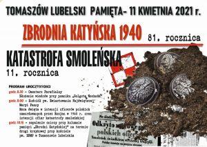 Plakat promujące uroczystości związane ze zbrodnią katyńską i katastrofą smoleńską