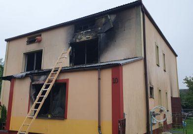 MAJDAN GÓRNY Pożar budynku mieszkalnego