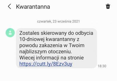 UWAGA na oszustwa sms-owe nt. kwarantanny!